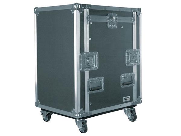 Flight case 12 unità supporto mixer inclinabile con ruote