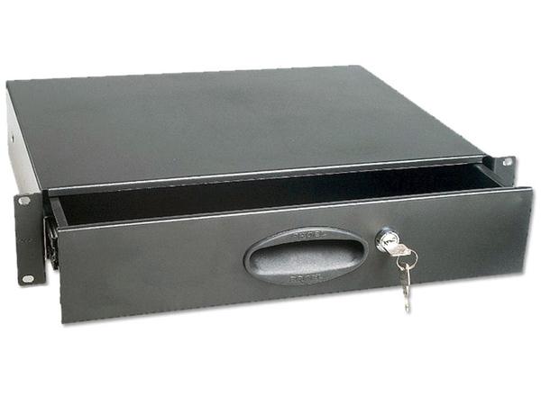 """CASSETTO RACK 19/"""" 2U CON PIANO ESTRAIBILE in metallo"""