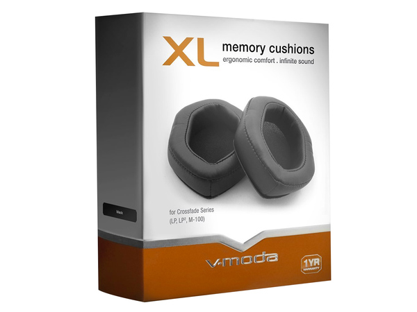 V-MODA XL Memory Cushions - Black