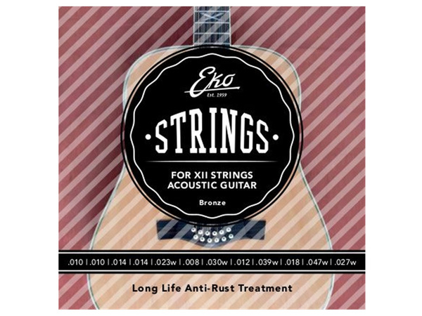 EKO Acoustic Guitar XII Strings Bronze 10-47