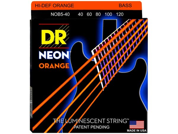 DR STRINGS NOB5-40 Neon Hi-Def Orange Bass