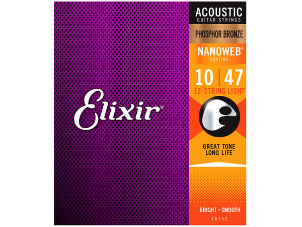 ELIXIR 16152 Nanoweb Light 12 String Acoustic Phosphor Bronze