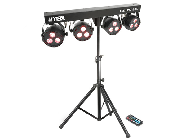 MAX LED PARBAR 4 3xLED RGBW con stand
