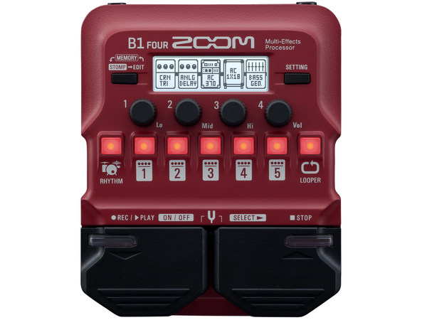 ZOOM B1 Four Bass Multi-Effects Processor