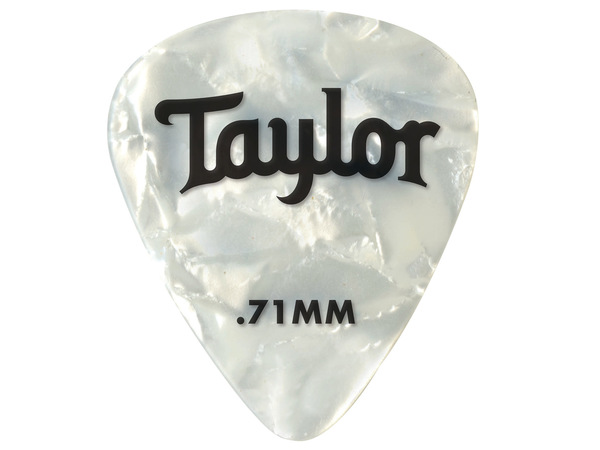 TAYLOR Celluloid 351 Guitar Picks White Pearl .71mm (Medium) 12-Pack