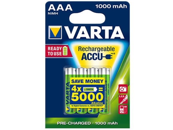 VARTA Rechargeable ACCU 5703 NiMH Battery AAA 1.5V