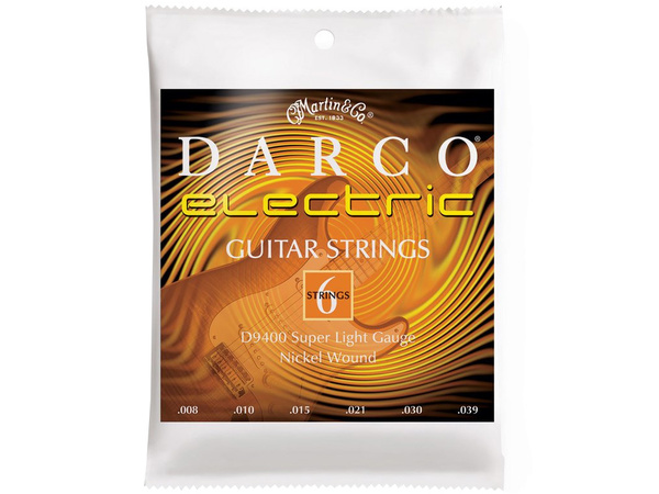 MARTIN D9400 Electric Guitar Strings Super Light 08-39 (10 pack)