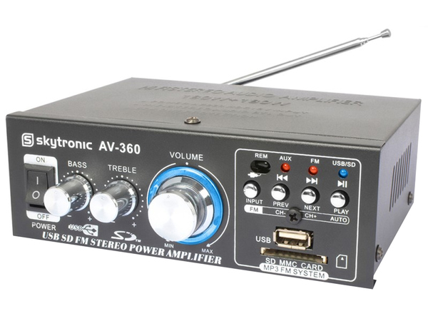 SKYTRONIC AV360 Mini Amplifier SD/USB/MP3