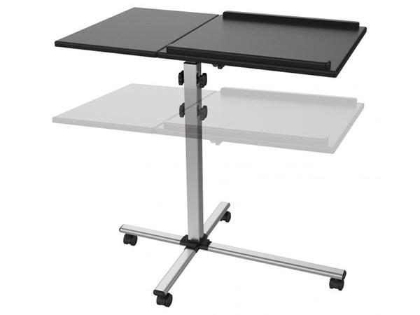 Tavolino Con Le Ruote.Tavolino Regolabile Universale Con Ruote Black Strumenti