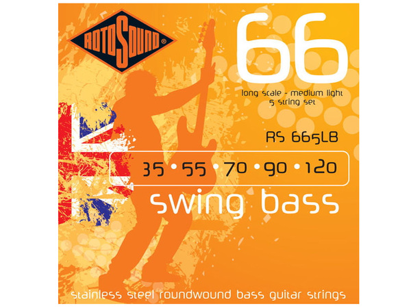 ROTOSOUND RS665LB Swing Bass 66 Stainless Steel 35-120