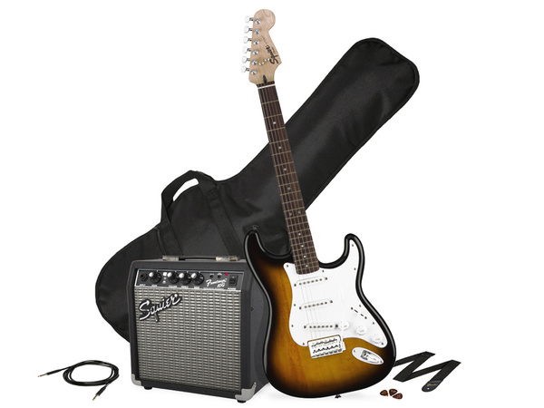 FENDER Squier Stratocaster SSS Pack 10G Brown Sunburst