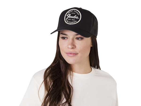 FENDER West Coast Trucker Hat Black