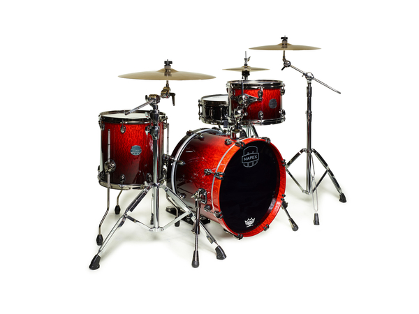 MAPEX Sv481xbkle Batteria Saturn V Mh Exotic Club 3 Pezzi Cherry Mist Maple Burl