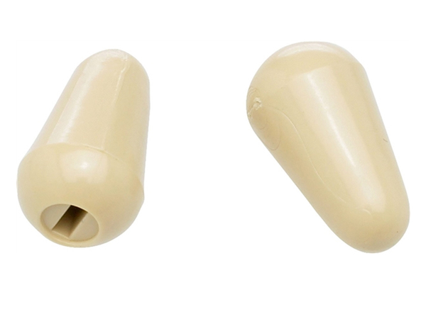 FENDER Stratocaster Switch Tips Aged White (2)