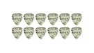 TAYLOR Celluloid 351 Guitar Picks Abalone 1.21mm (X-Heavy) 12-Pack