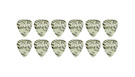 TAYLOR Celluloid 351 Guitar Picks Abalone .71mm (Medium) 12-Pack