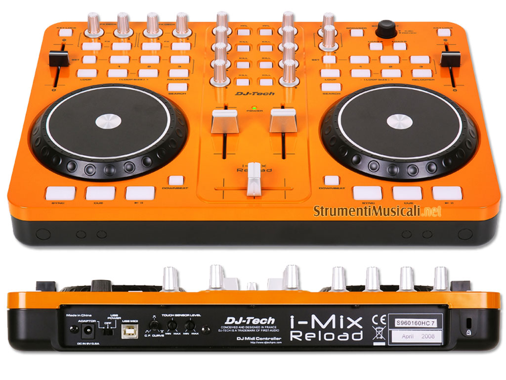Dj-tech I-mix Reload Orange dj Tech I-mix Reload Orange