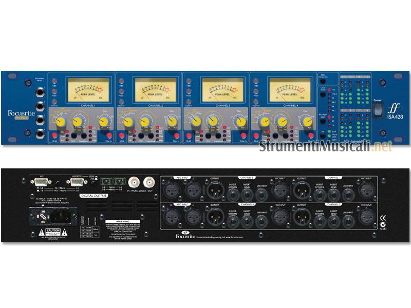 FOCUSRITE ISA 428 - Modulo Multicanale 4 Canali