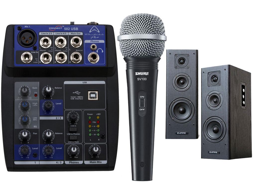 karaoke kit one connect 502 usb s350 shure sv100 strumenti musicali net. Black Bedroom Furniture Sets. Home Design Ideas