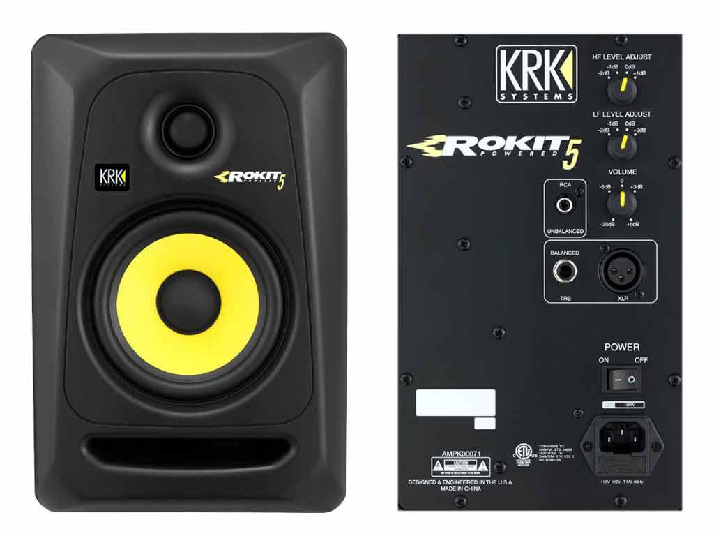 "ROKiT: KRK RP5 RoKit G3 Black MONITOR DA STUDIO ATTIVO 5""/1"" 2"