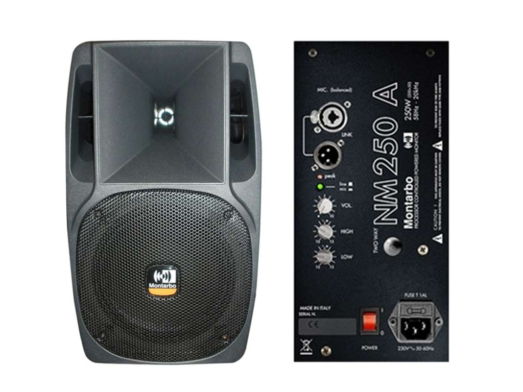 Montarbo nm 250 a cassa attiva amplificata 250 watt rms for Mercedes benz parts distribution center carol stream il