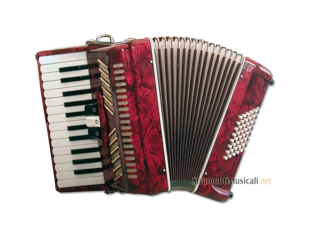 Paganini 48 fisarmonica 48 bassi rossa strumenti musicali .net