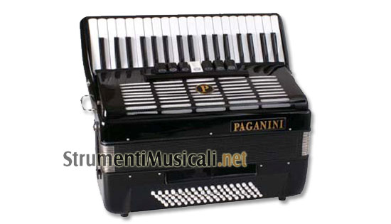 Paganini 80 fisarmonica 80 bassi rossa strumenti musicali .net