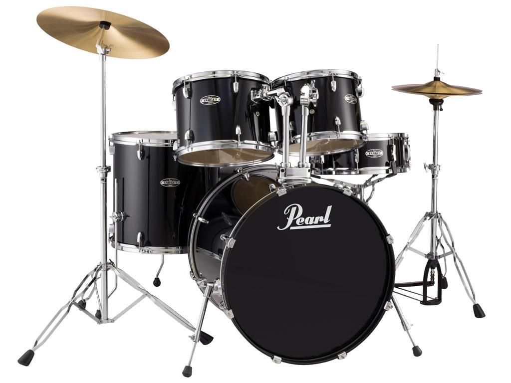 Pearl target tgx c black con piatti e sgabello strumenti