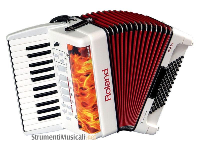 Roland fr1 white v accordion fisarmonica a piano non amplificata