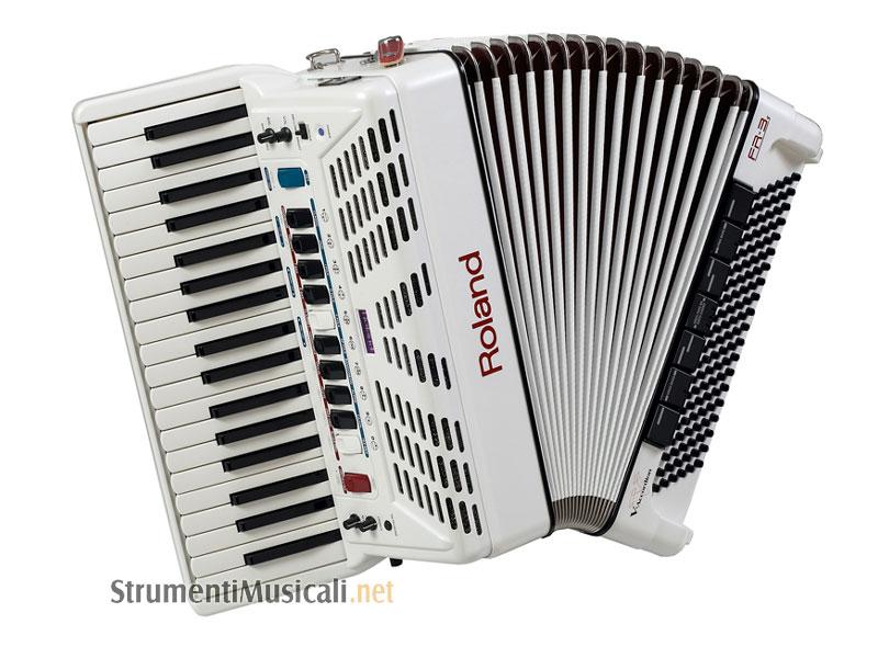 Roland fr3s white v accordion a pianoforte amplificata strumenti