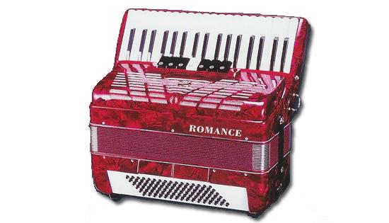 Romance ac72bs fisarmonica 72 bassi nera strumenti musicali .net