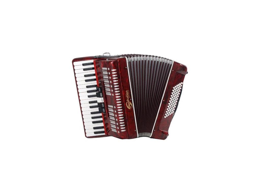Soundsation 72 fisarmonica 72 bassi rossa strumenti musicali .net