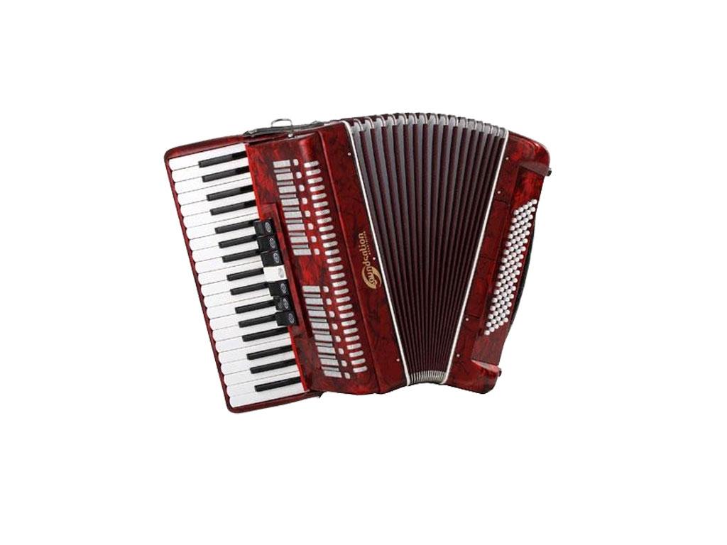 Soundsation 80 fisarmonica 80 bassi rossa strumenti musicali .net