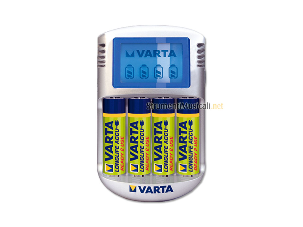 VARTA Caricabatterie con LCD + 4 batterie ricaricabili 2500mAh -  Strumenti Musicali .net