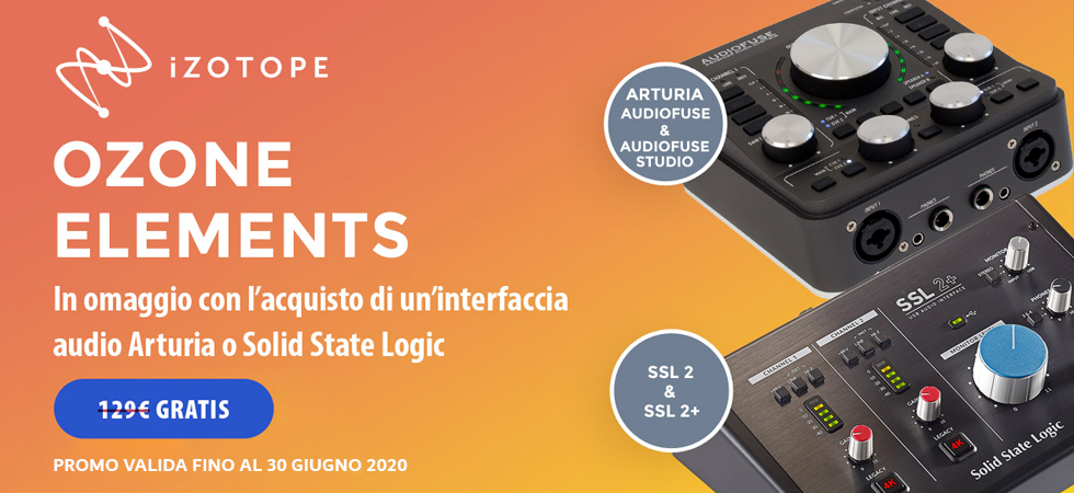 Ozone Elements in OMAGGIO con Arturia e SSL