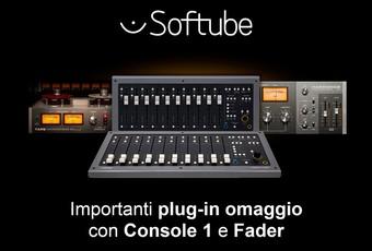 Promo Softube: plug-in in omaggio con Console 1 e Fader