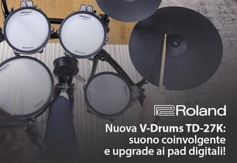 La nuova V-Drums TD-27K: suono coinvolgente e upgrade ai pad digitali!