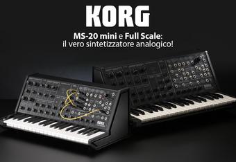KORG MS-20 mini e Full Scale: il vero sintetizzatore analogico!