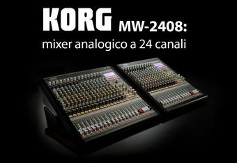 Korg MW-2408: mixer analogico a 24 canali