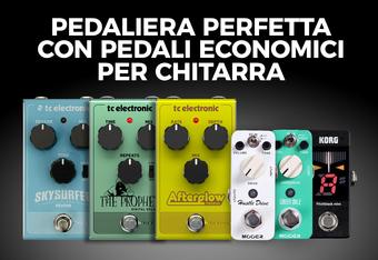 Pedaliera perfetta con pedali economici per chitarra!