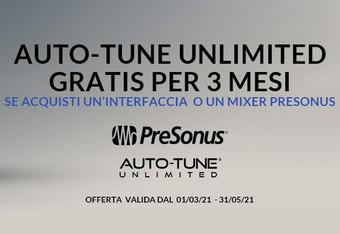 Auto-Tune Unlimited Gratis per 3 mesi con Interfaccia o Mixer Presonus