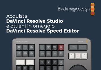 Acquista DaVinci Resolve Studio e ricevi in omaggio uno Speed Editor